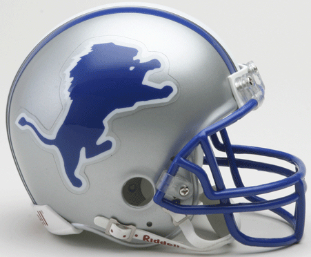 Detroit Lions 1983 to 2002 Riddell Mini Replica Throwback Helmet
