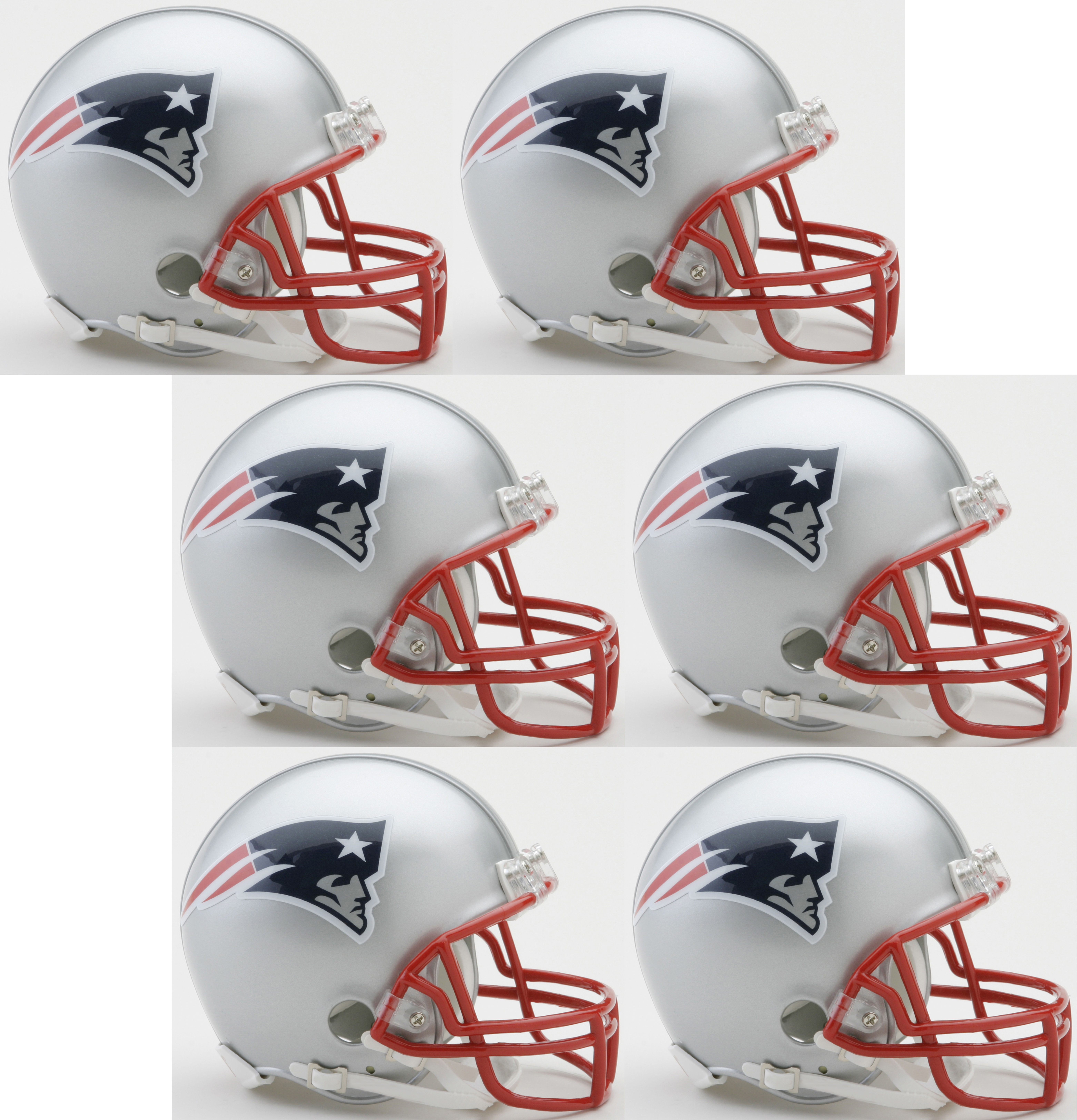 New England Patriots NFL Mini Football Helmet 6 count
