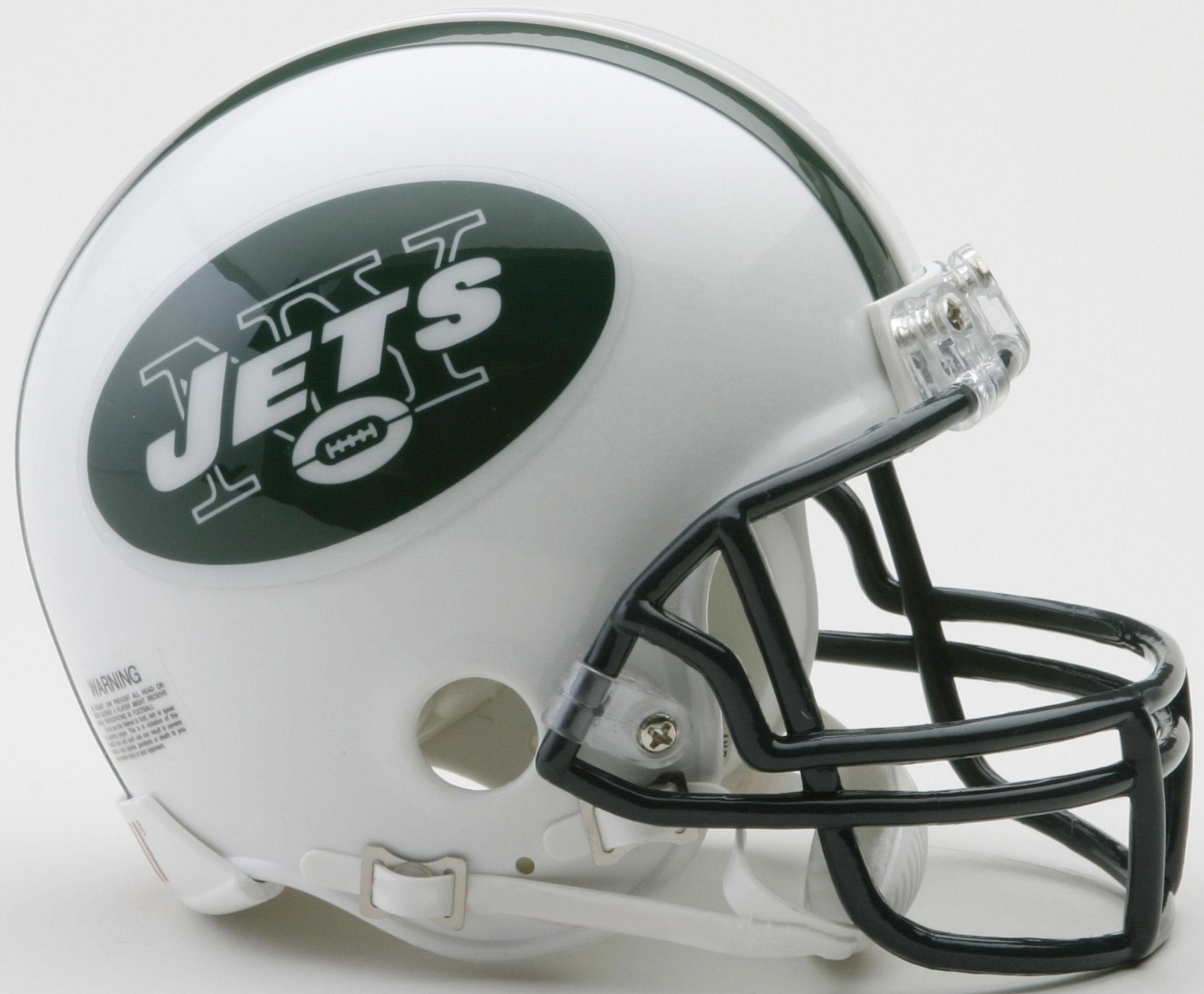 New York Jets 1998 to 2018 Riddell Mini Replica Throwback Helmet