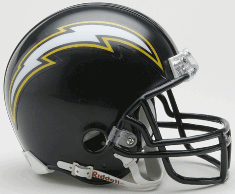 San Diego Chargers 1988 to 2006 Riddell Mini Replica Throwback Helmet