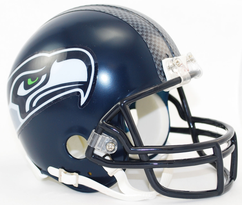 Seattle Seahawks NFL Mini Football Helmet <B>Matte Navy</B>