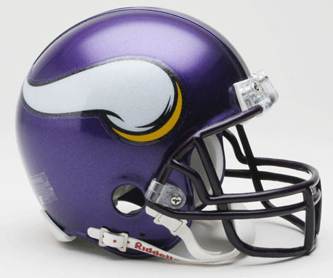 Minnesota Vikings 2006 to 2012 Riddell Mini Replica Throwback Helmet