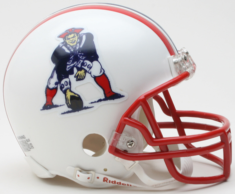 New England Patriots 1990 to 1992 Riddell Mini Replica Throwback Helmet