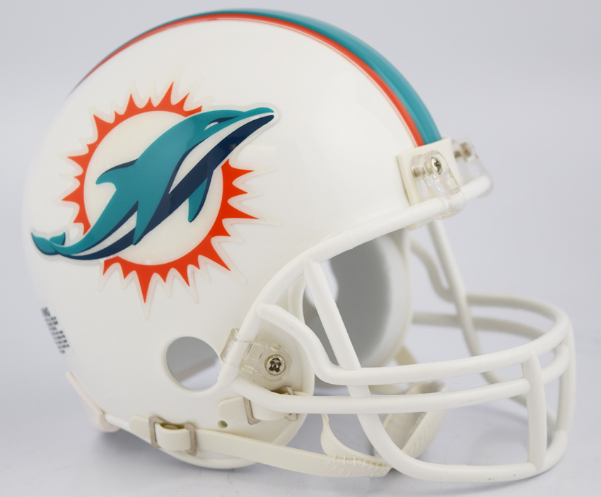Miami Dolphins NFL Mini Football Helmet <B>NEW 2018</B>