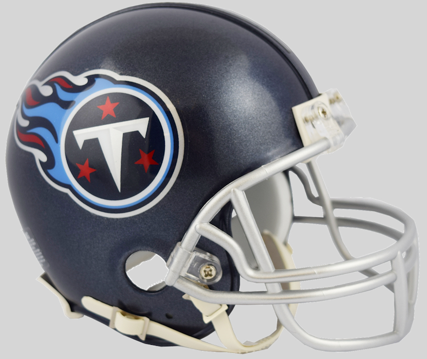 Tennessee Titans NFL Mini Football Helmet <B>NEW 2018 Satin Navy Metallic</B>