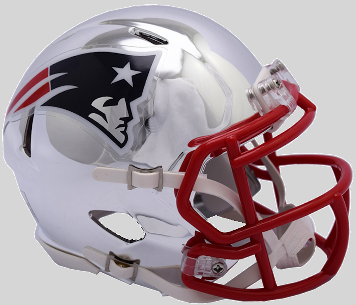 New England Patriots Speed Chrome Authentic Helmet <B>NEW 2018</B>