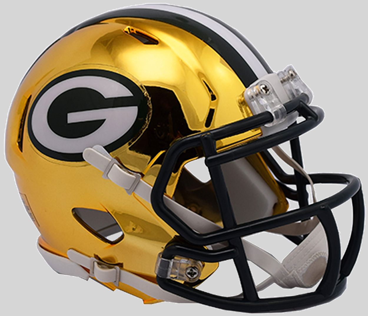Green Bay Packers NFL Mini Chrome Speed Football Helmet <B>NEW 2018</B>