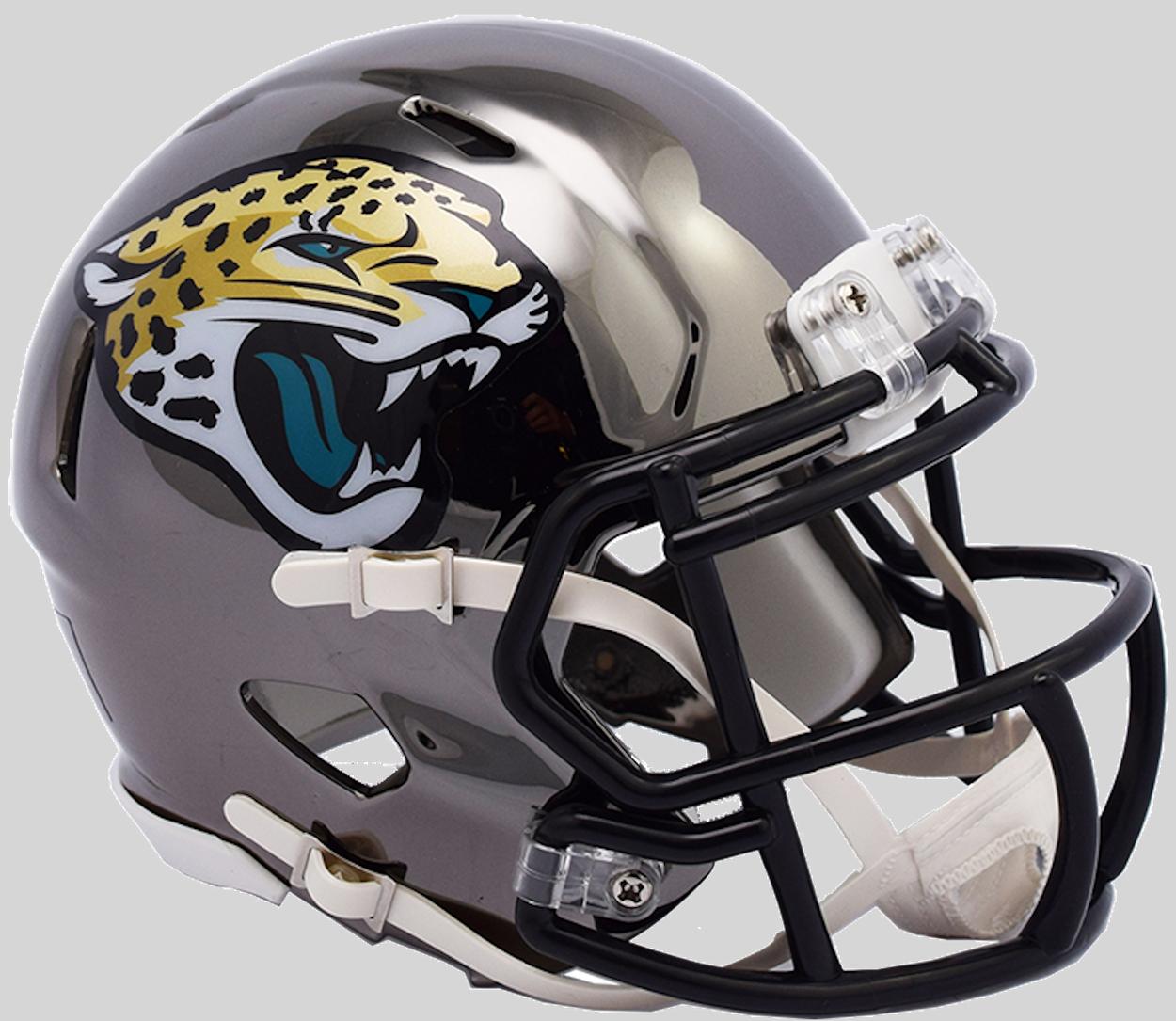 Jacksonville Jaguars NFL Mini Chrome Speed Football Helmet <B>NEW 2018</B>