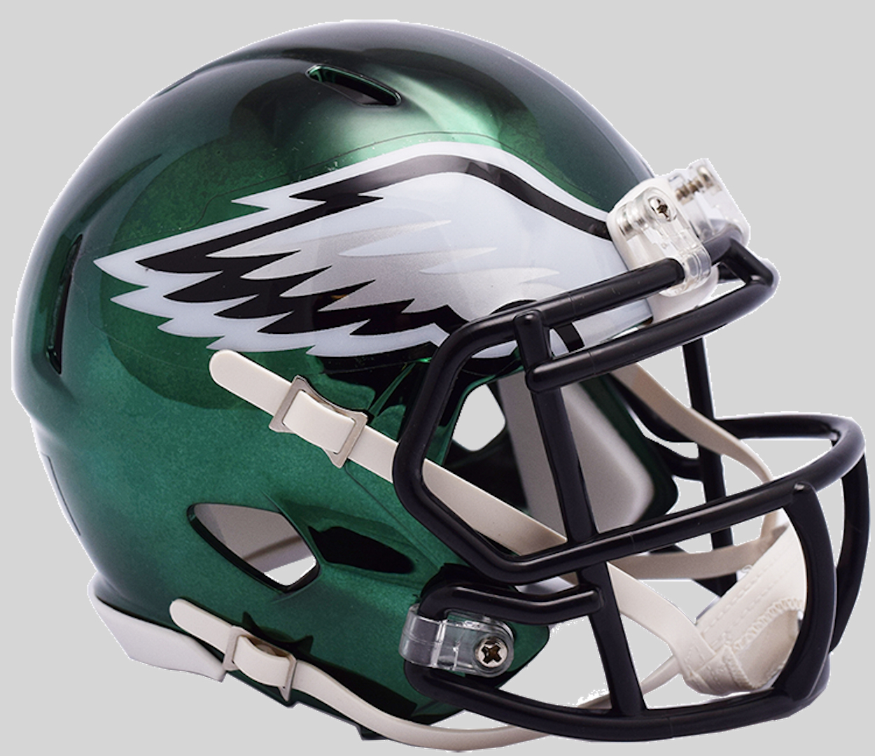 Philadelphia Eagles NFL Mini Chrome Speed Football Helmet <B>NEW 2018</B>