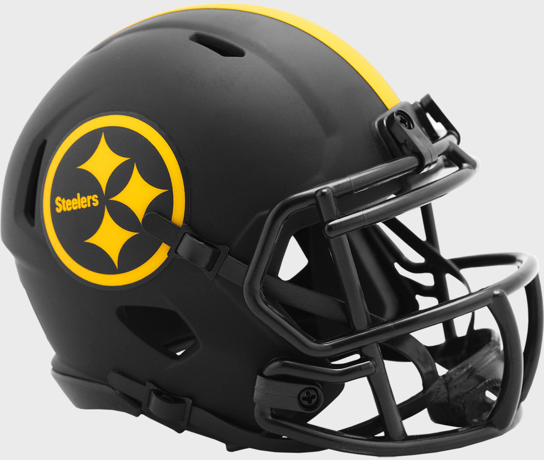 Pittsburgh Steelers NFL Mini Speed Football Helmet <B>ECLIPSE</B>