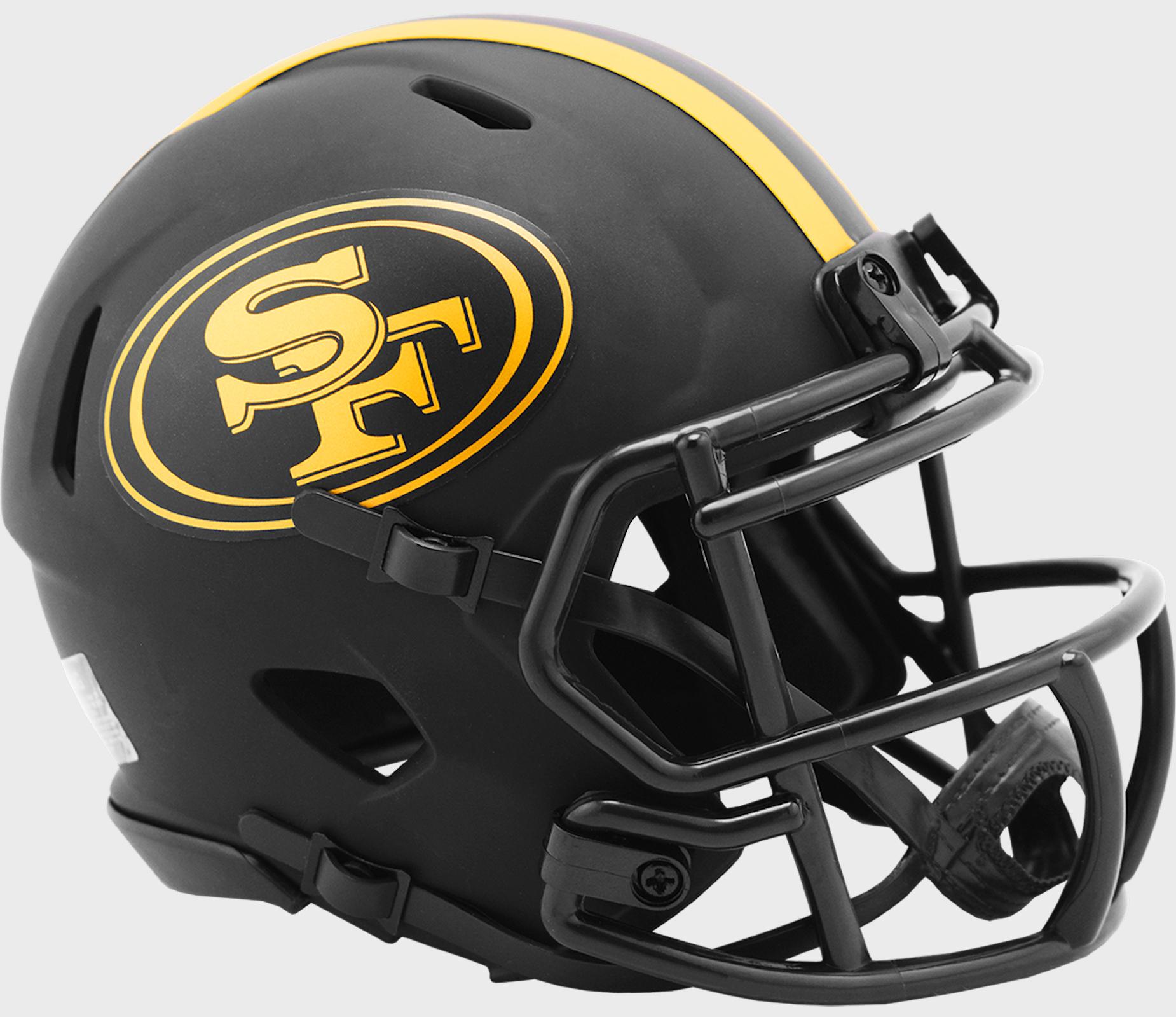 San Francisco 49ers NFL Mini Speed Football Helmet <B>ECLIPSE</B>