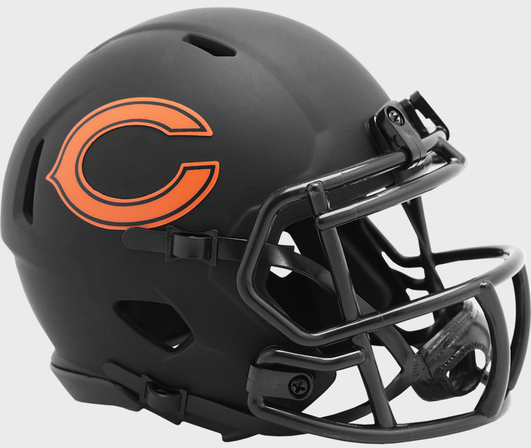 Chicago Bears NFL Mini Speed Football Helmet <B>ECLIPSE</B>