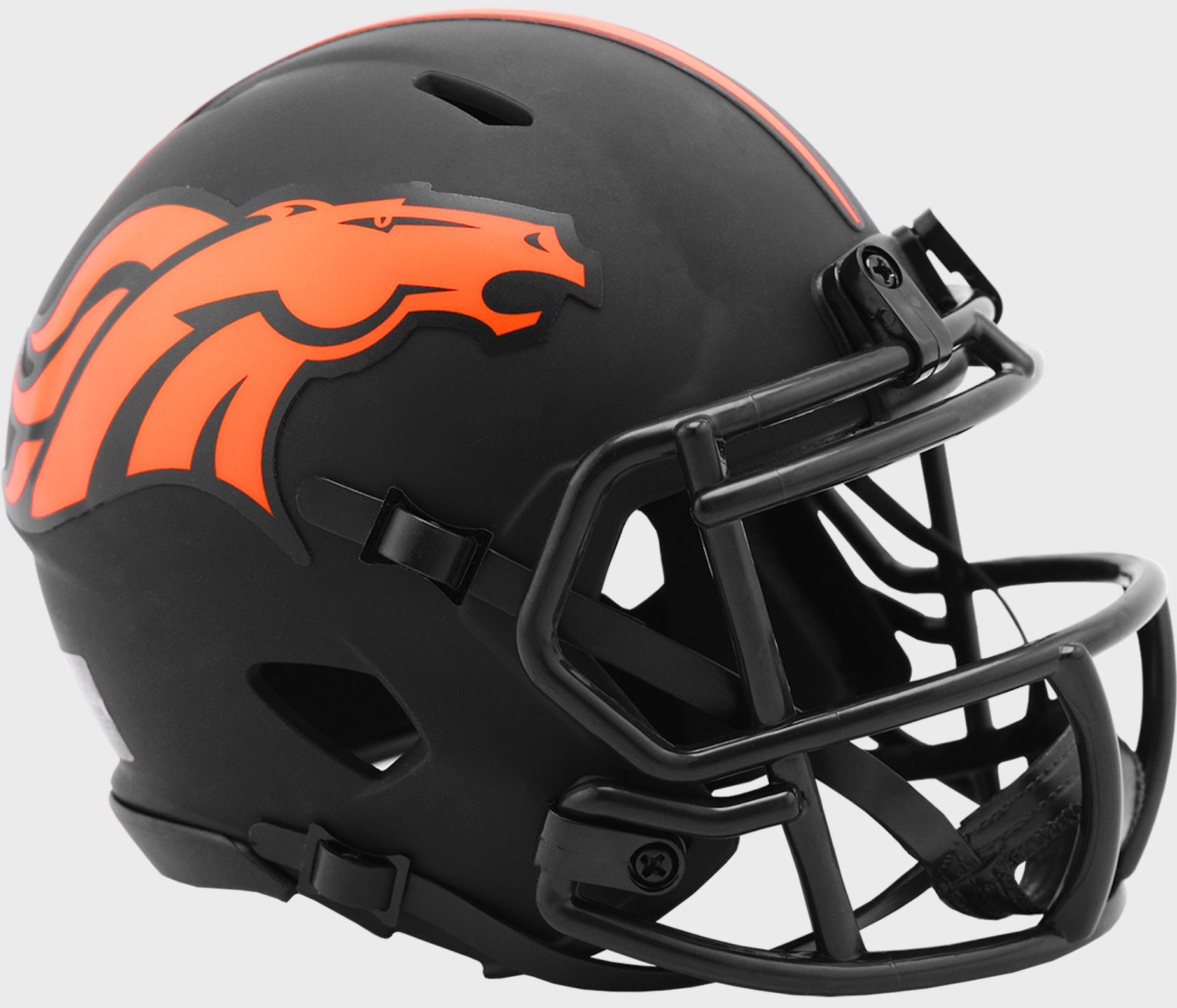 Denver Broncos NFL Mini Speed Football Helmet <B>ECLIPSE</B>