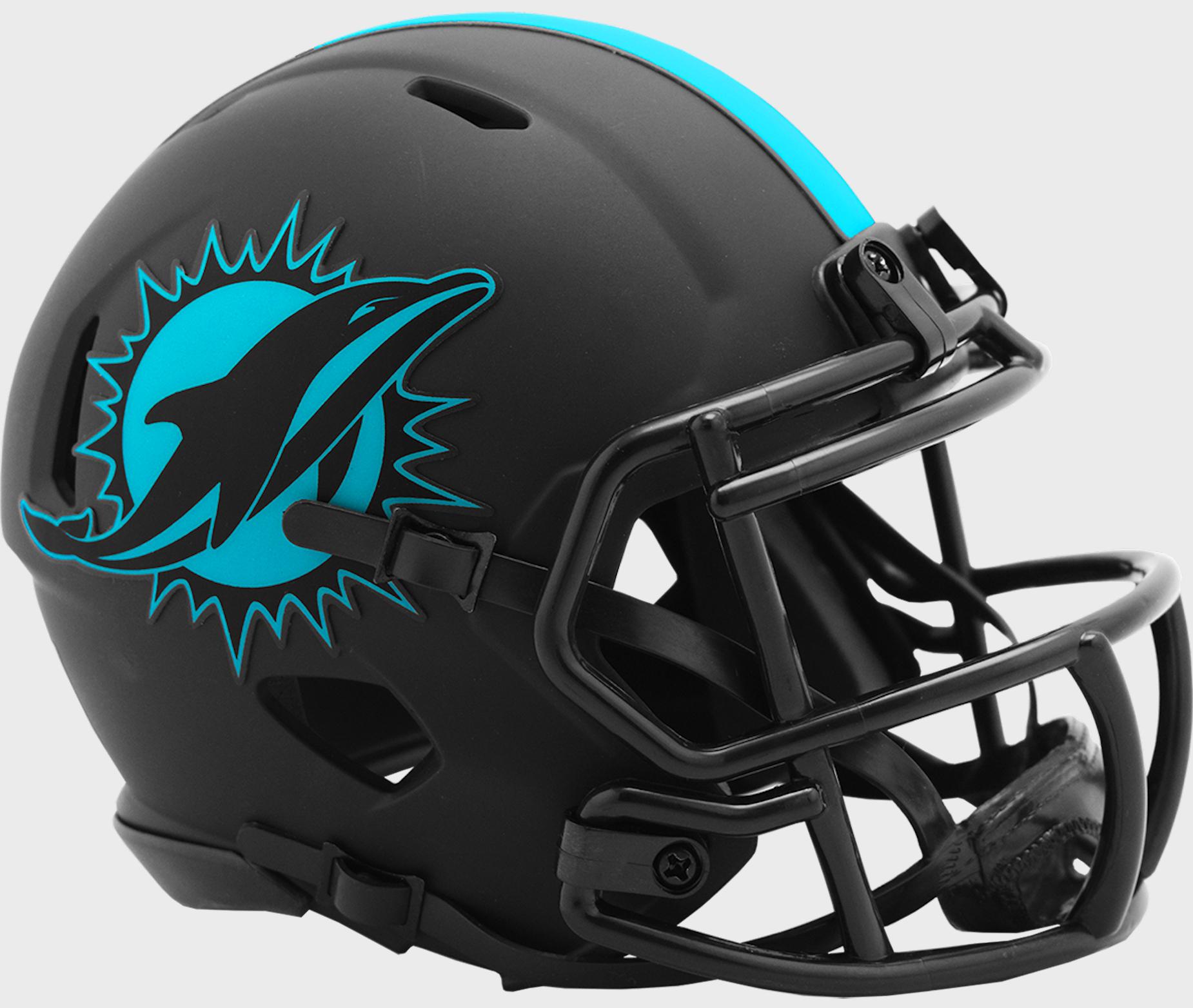 Miami Dolphins NFL Mini Speed Football Helmet <B>ECLIPSE</B>