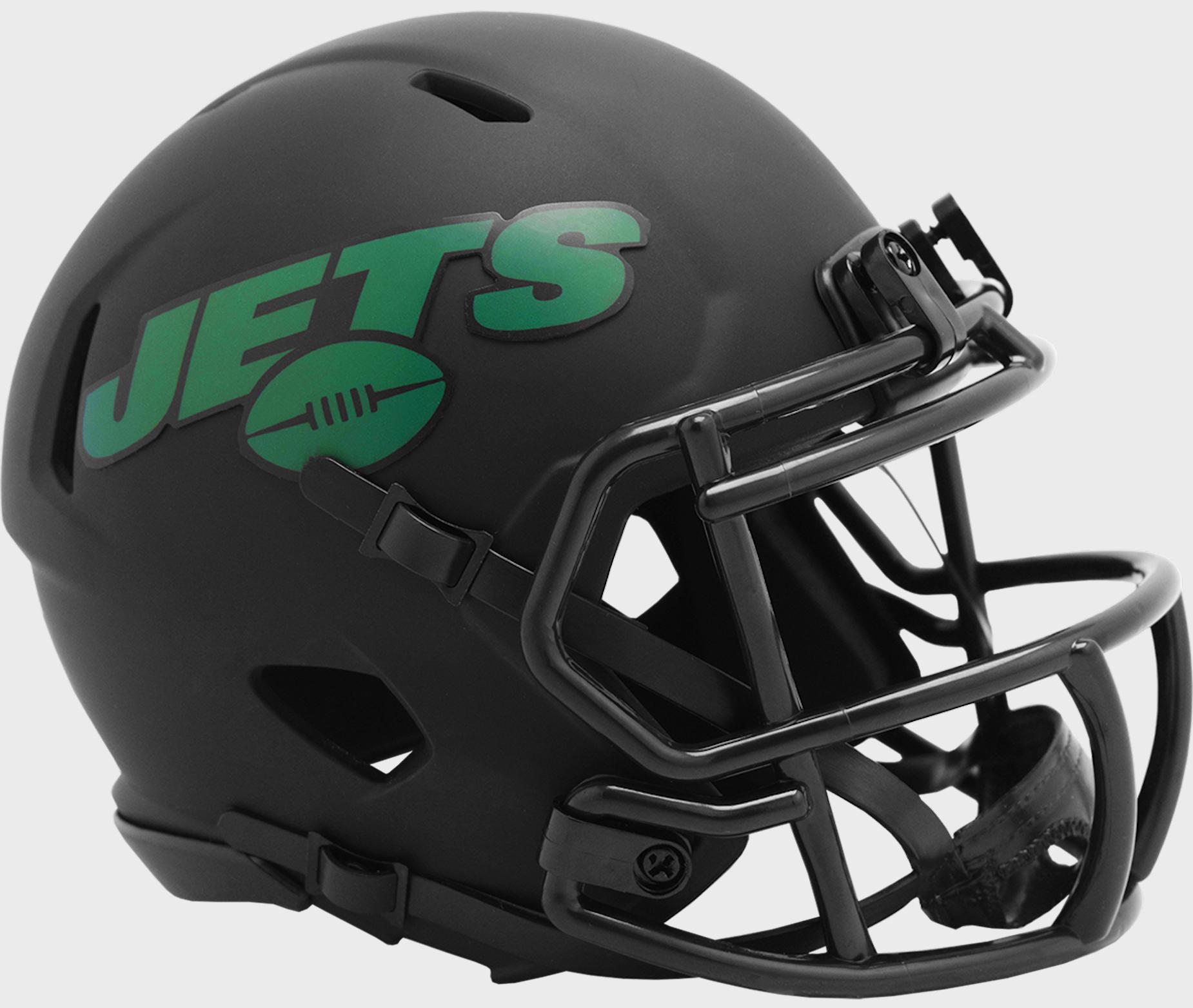 New York Jets NFL Mini Speed Football Helmet <B>ECLIPSE</B>