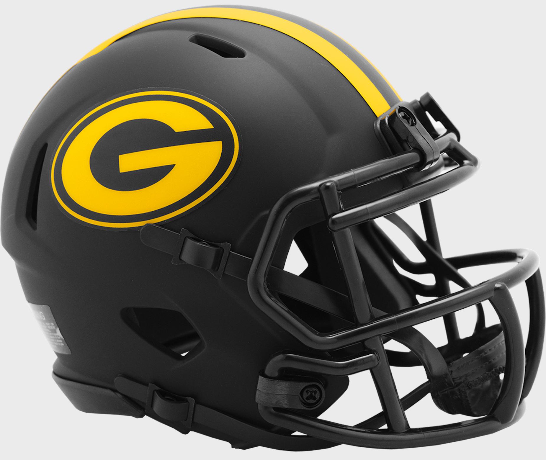 Green Bay Packers NFL Mini Speed Football Helmet <B>ECLIPSE</B>