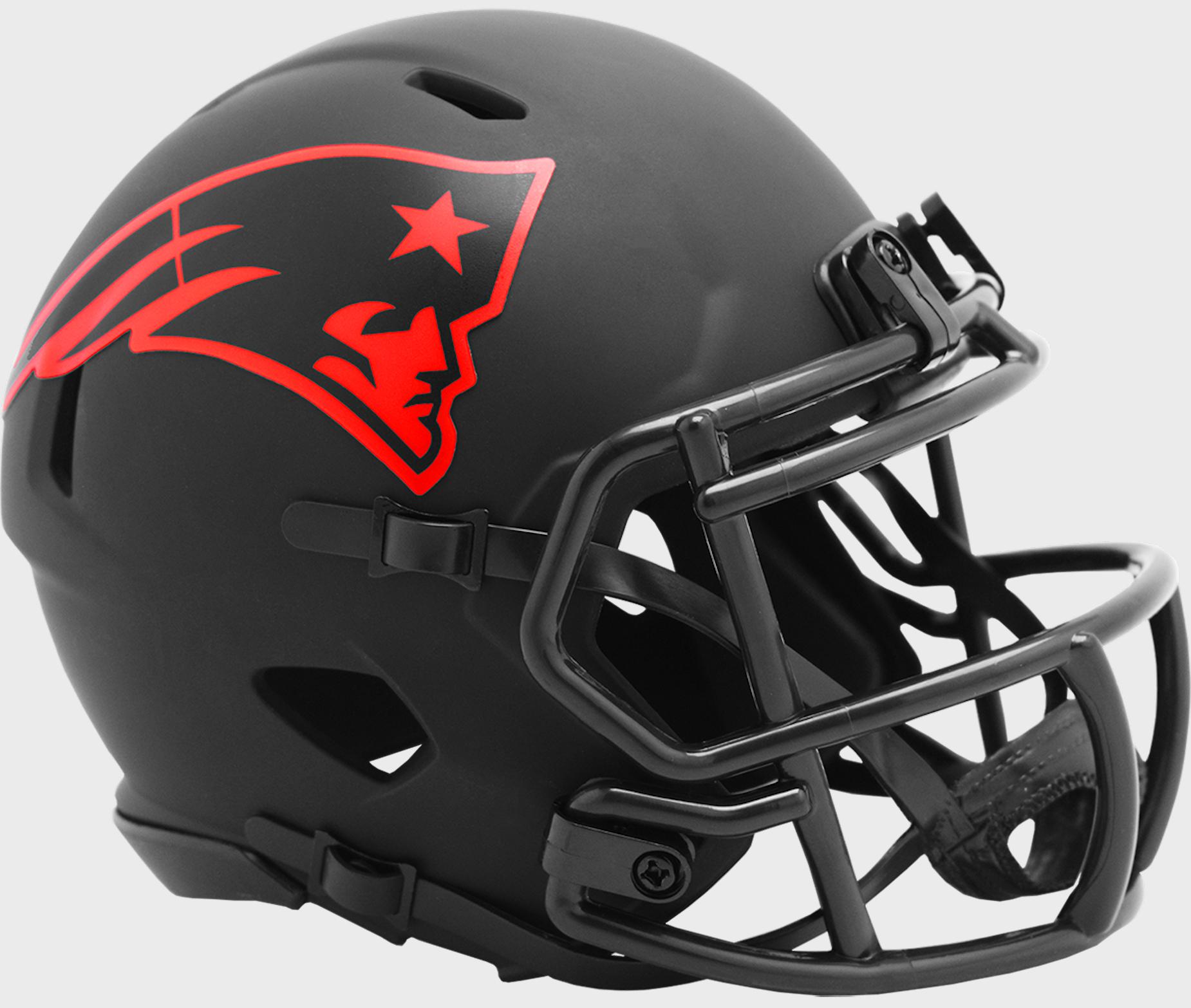 New England Patriots NFL Mini Speed Football Helmet <B>ECLIPSE</B>