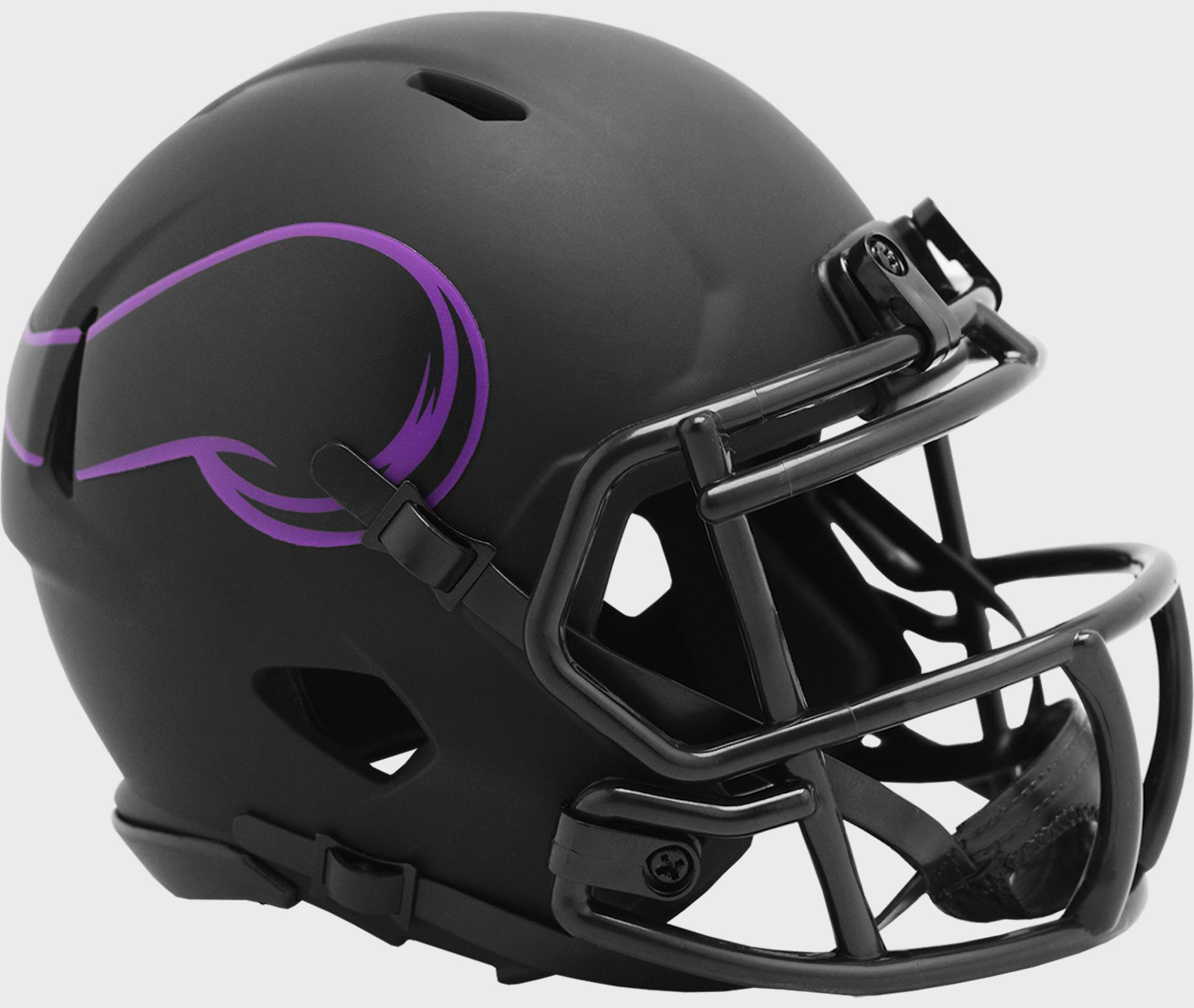 Minnesota Vikings NFL Mini Speed Football Helmet <B>ECLIPSE</B>