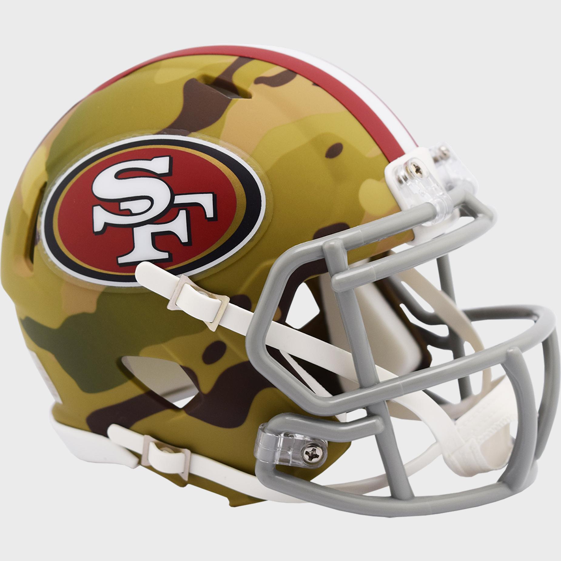 San Francisco 49ers NFL Mini Speed Football Helmet <B><B>CAMO</B></B>