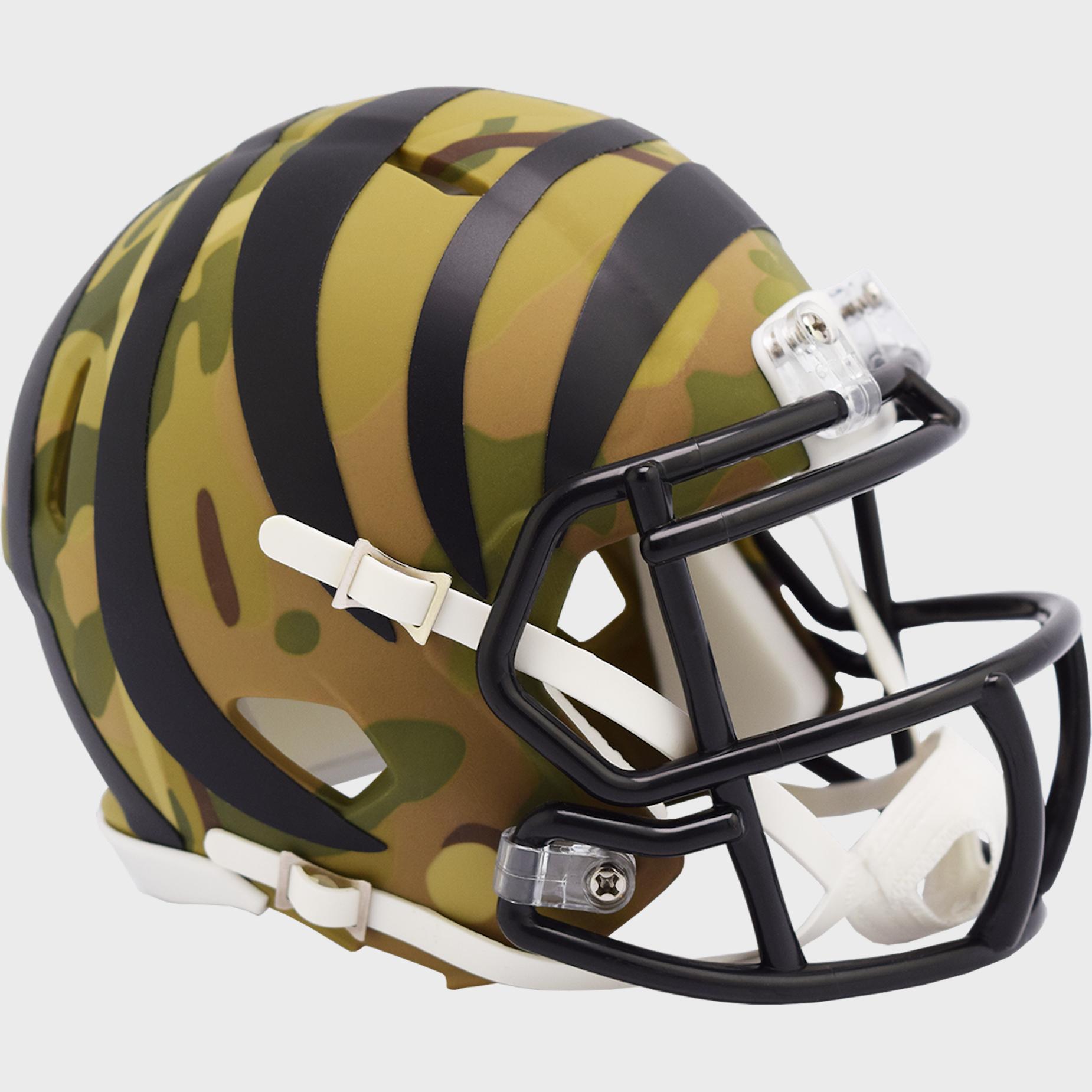 Cincinnati Bengals NFL Mini Speed Football Helmet <B>CAMO</B>