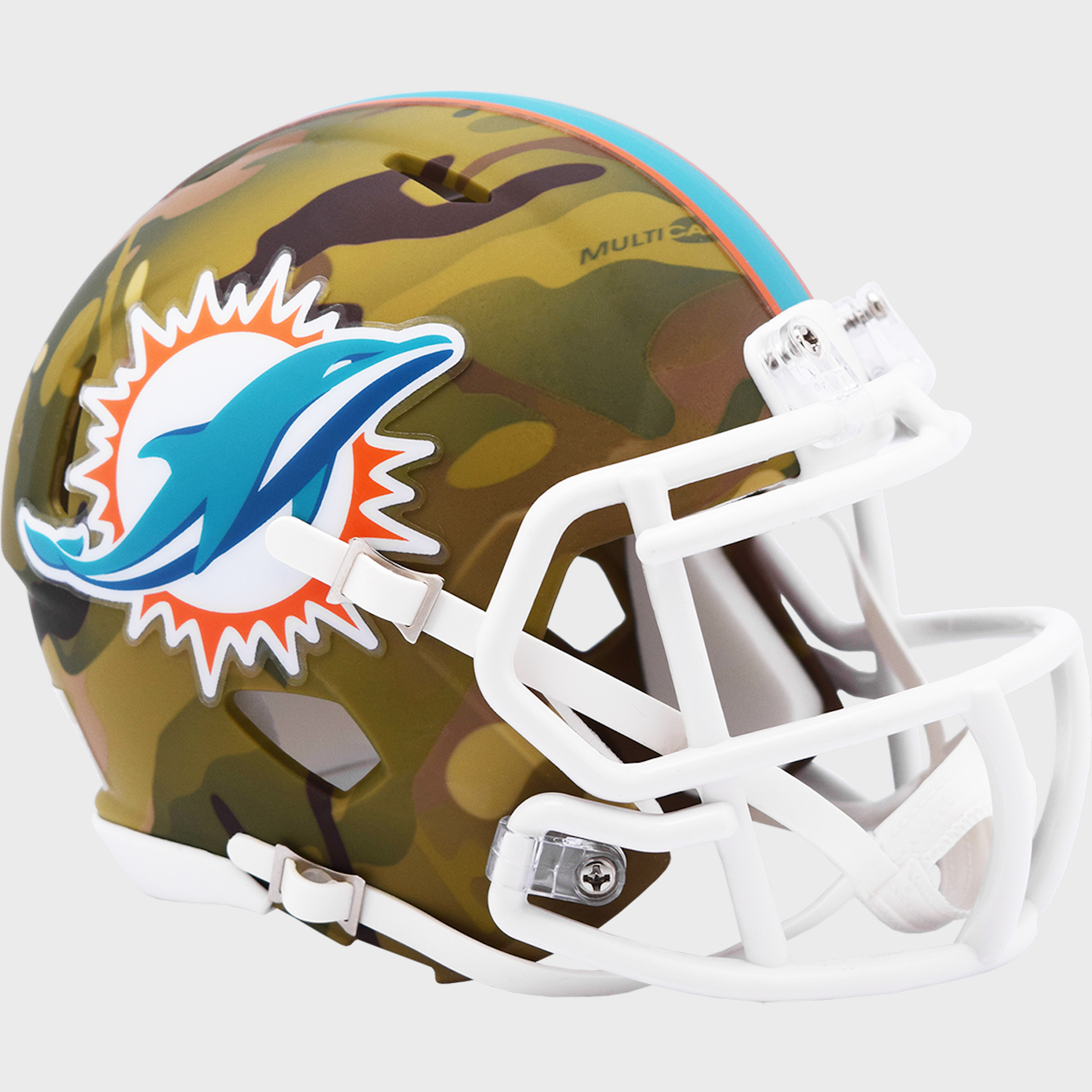 Miami Dolphins NFL Mini Speed Football Helmet <B>CAMO</B>
