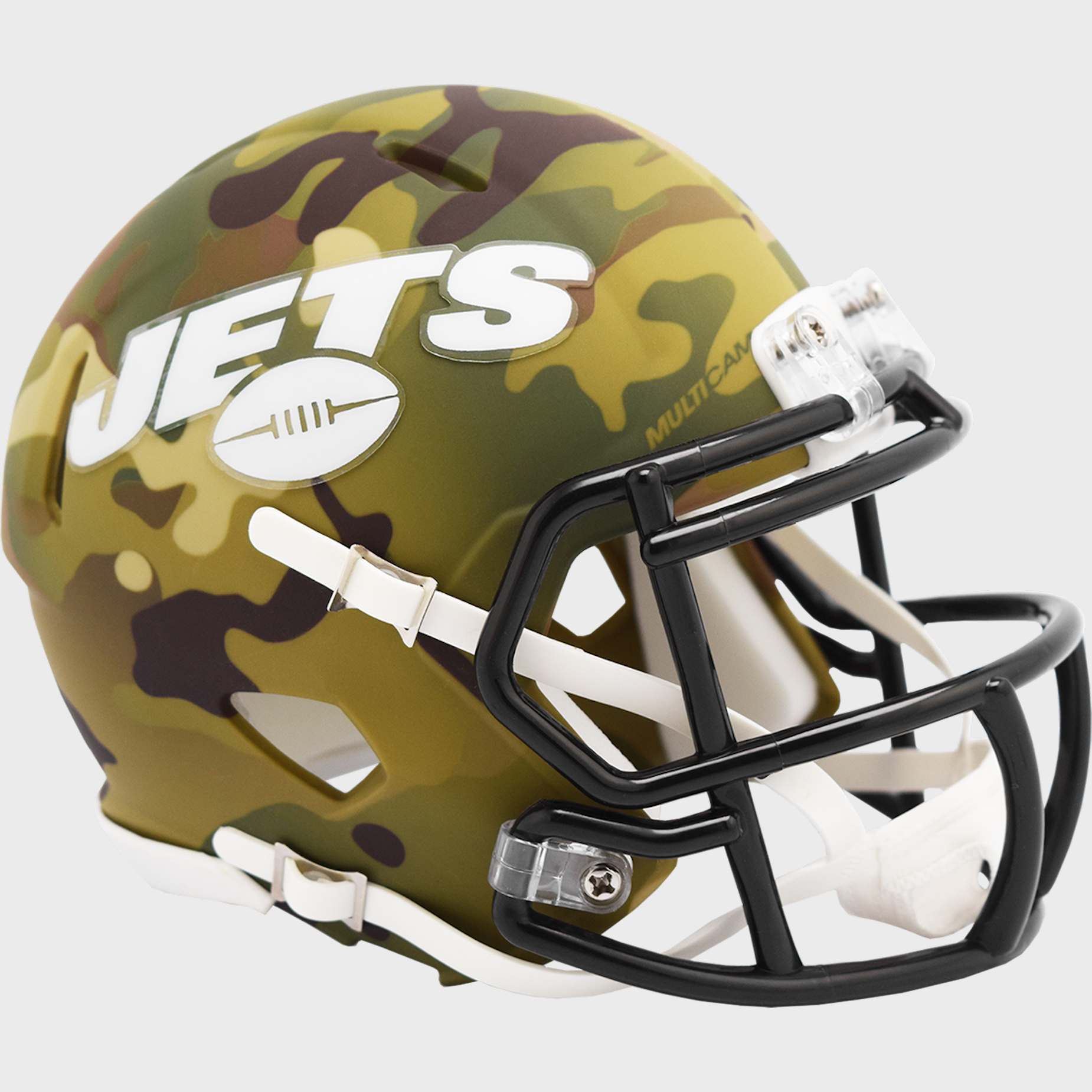 New York Jets NFL Mini Speed Football Helmet <B>CAMO</B>