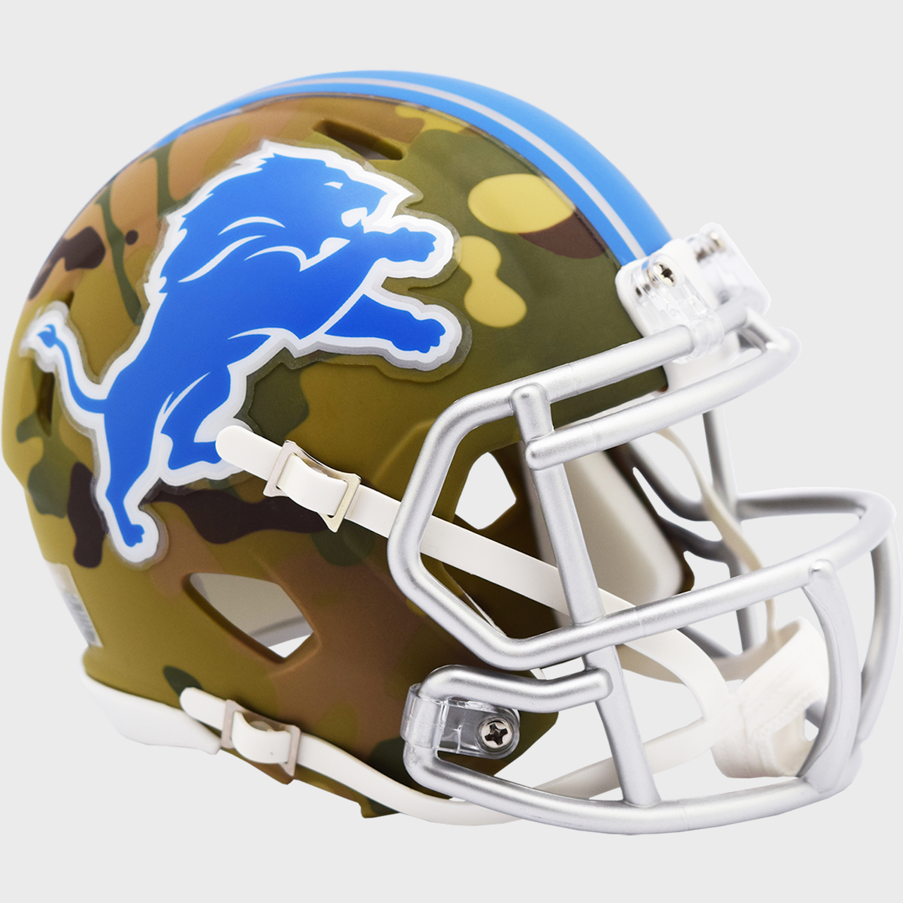 Detroit Lions NFL Mini Speed Football Helmet <B>CAMO</B>