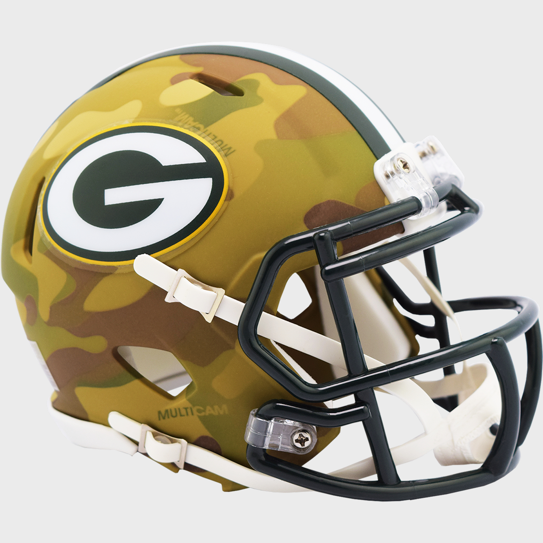 Green Bay Packers NFL Mini Speed Football Helmet <B>CAMO</B>