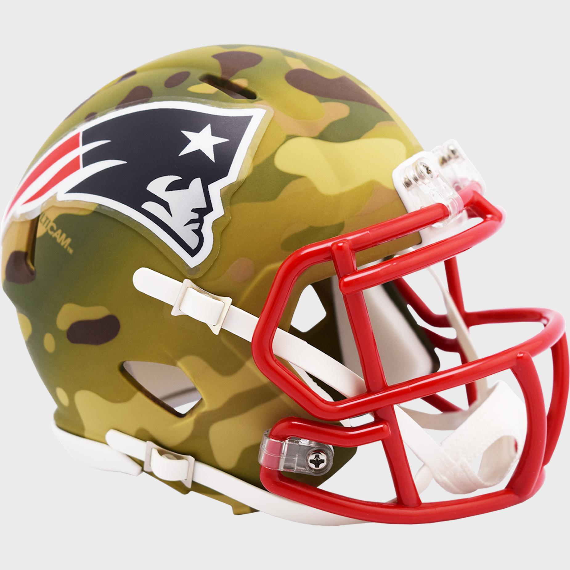 New England Patriots NFL Mini Speed Football Helmet <B>CAMO</B>