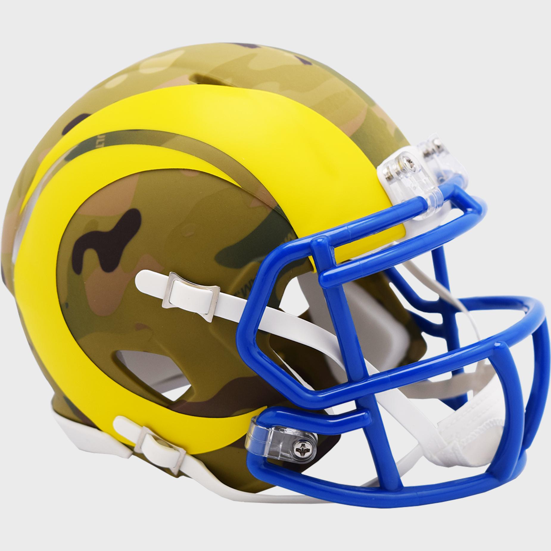 Los Angeles Rams NFL Mini Speed Football Helmet <B>CAMO</B>