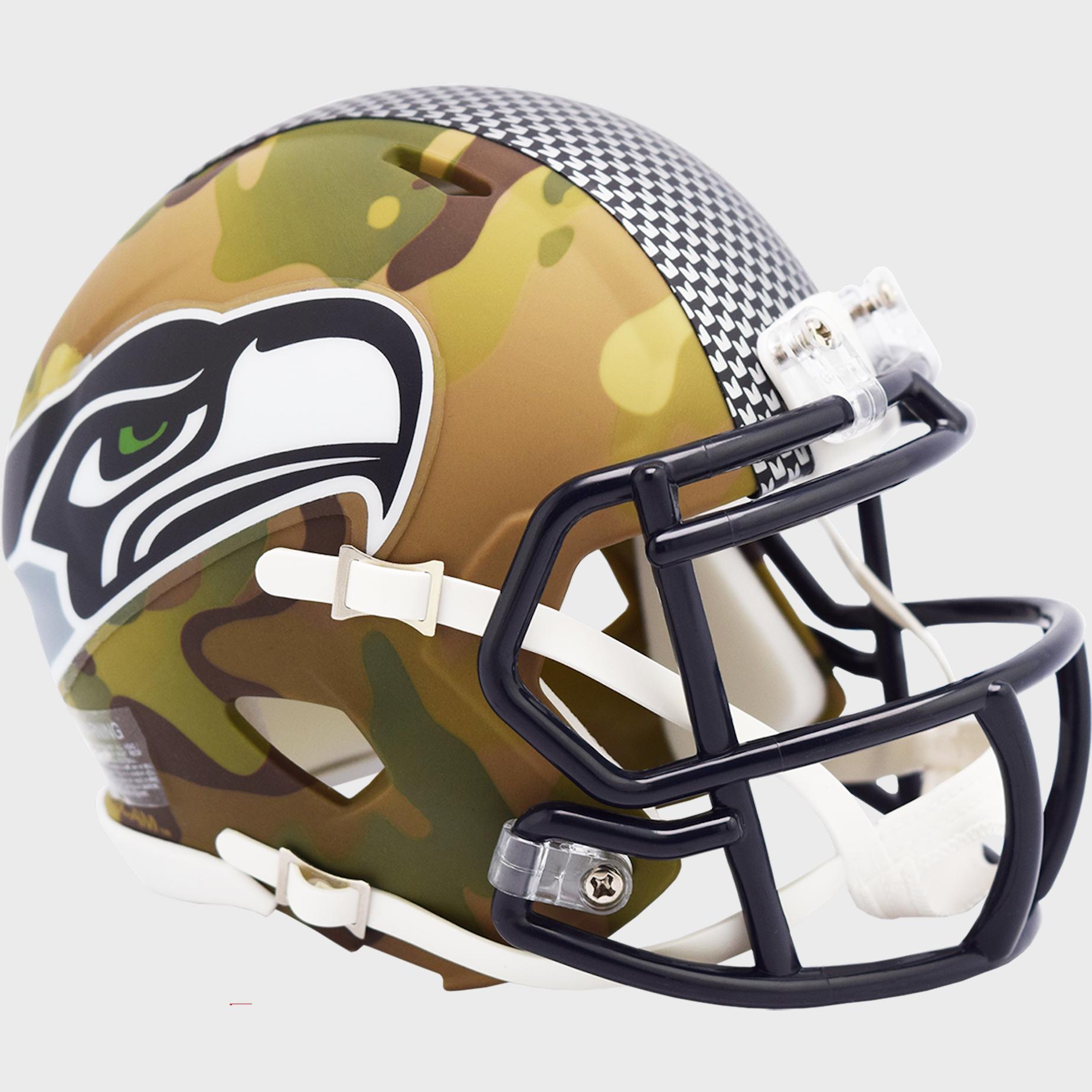 Seattle Seahawks NFL Mini Speed Football Helmet <B>CAMO</B>
