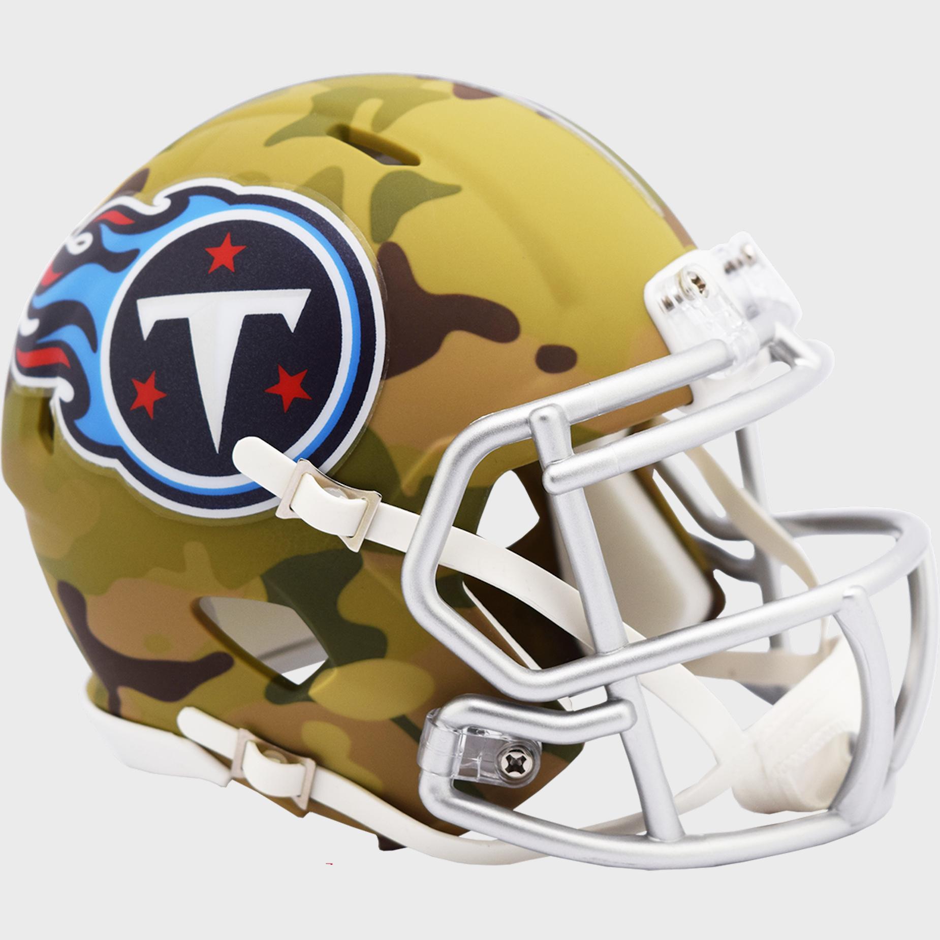 Tennessee Titans NFL Mini Speed Football Helmet <B>CAMO</B>