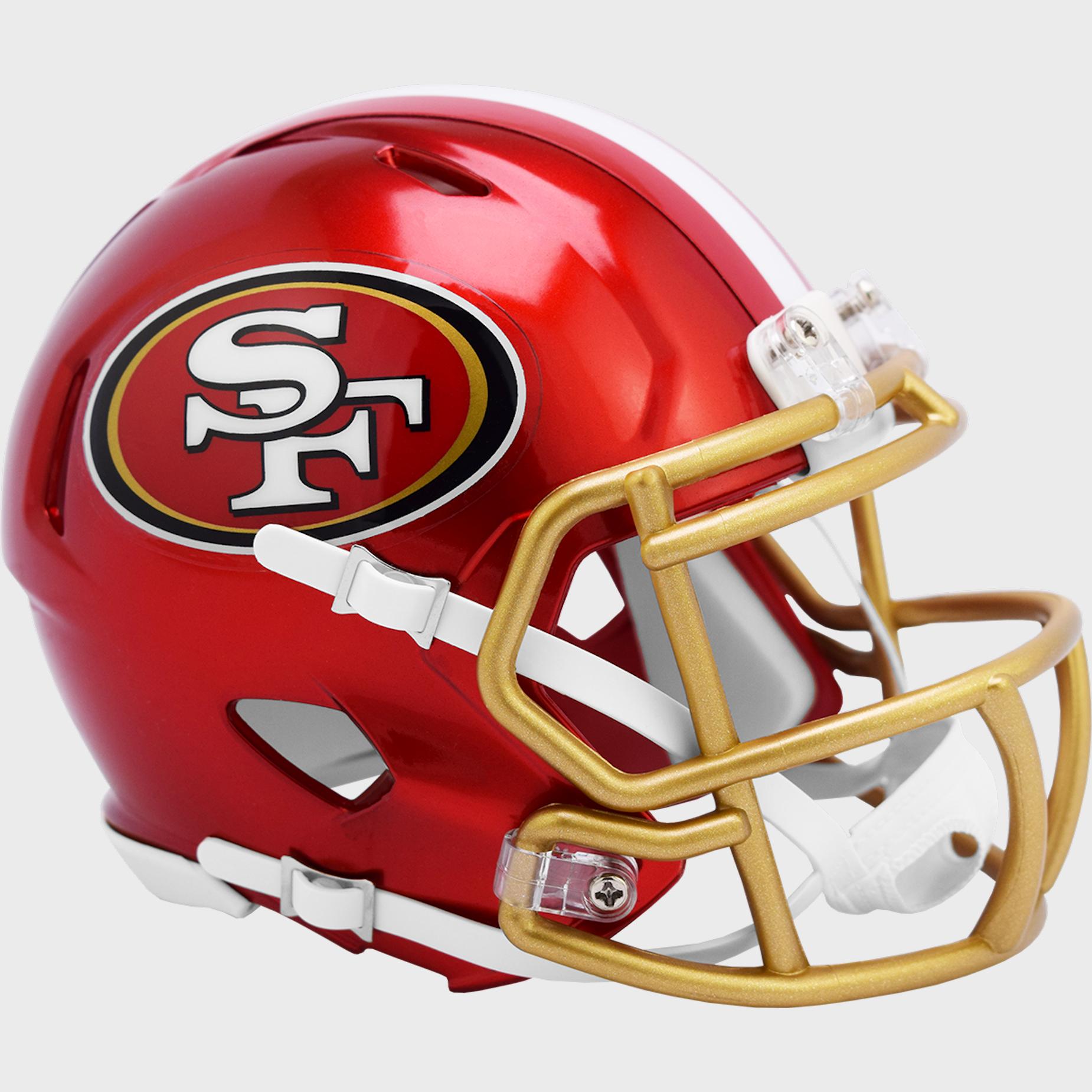 San Francisco 49ers Speed Mini Football Helmet <B>FLASH ESD 8/21/21</B>