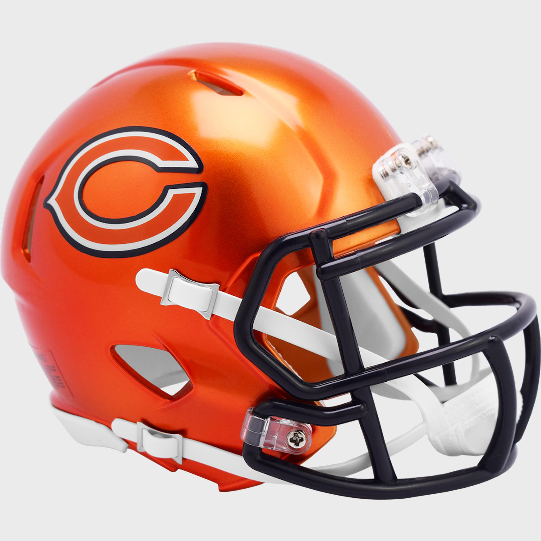 Chicago Bears Speed Mini Football Helmet <B>FLASH ESD 8/21/21</B>