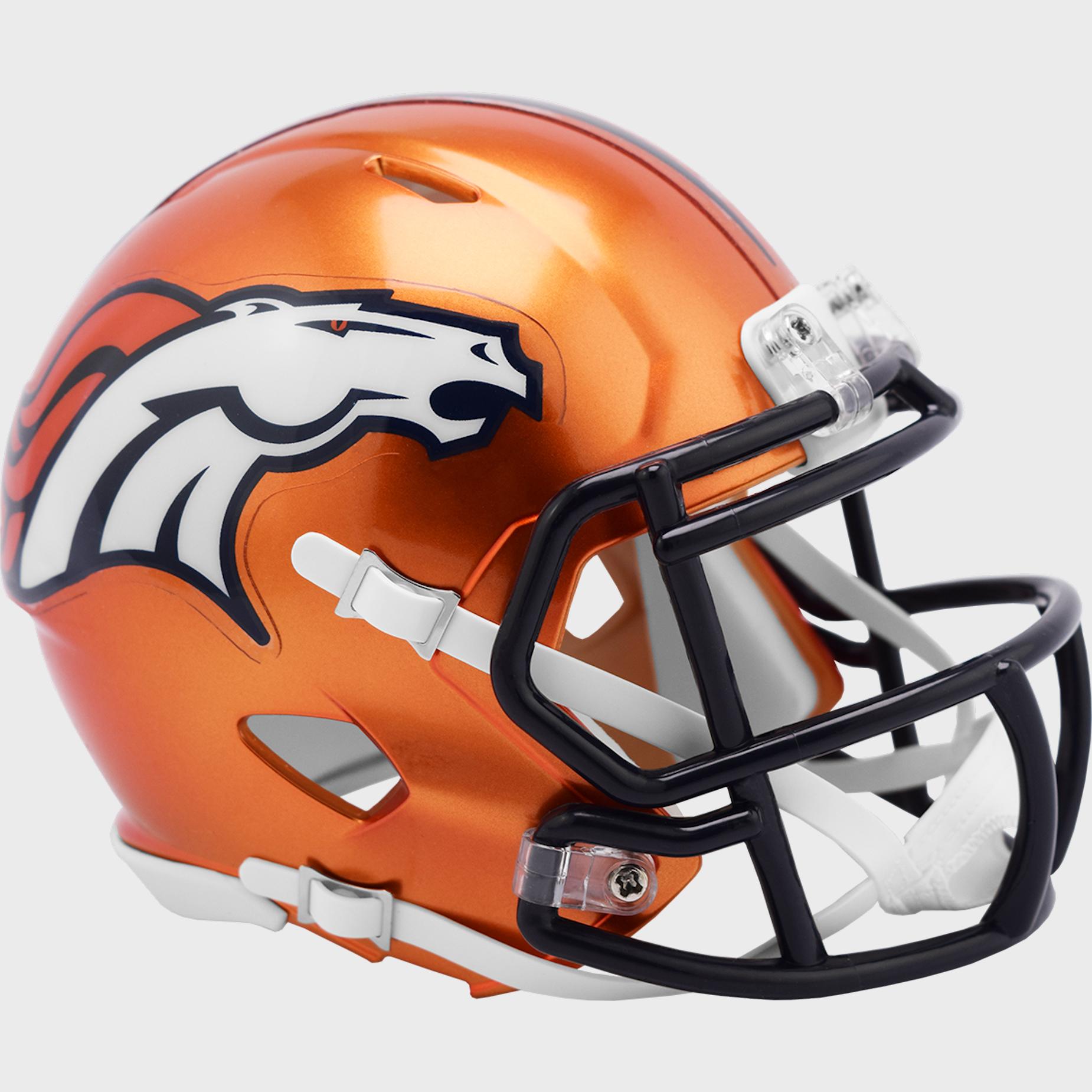 Denver Broncos Speed Mini Football Helmet <B>FLASH ESD 8/21/21</B>