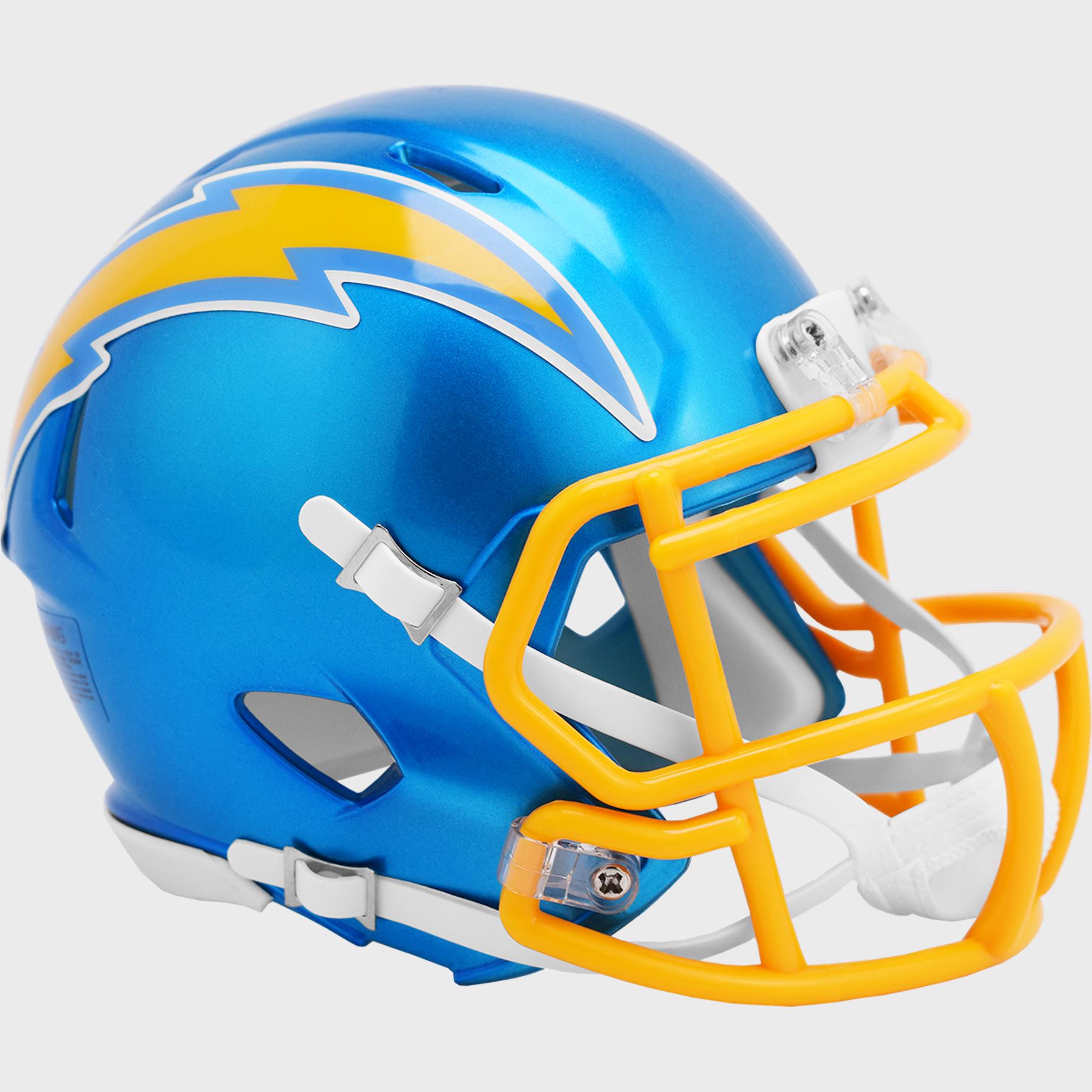 Los Angeles Chargers Speed Mini Football Helmet <B>FLASH ESD 8/21/21</B>