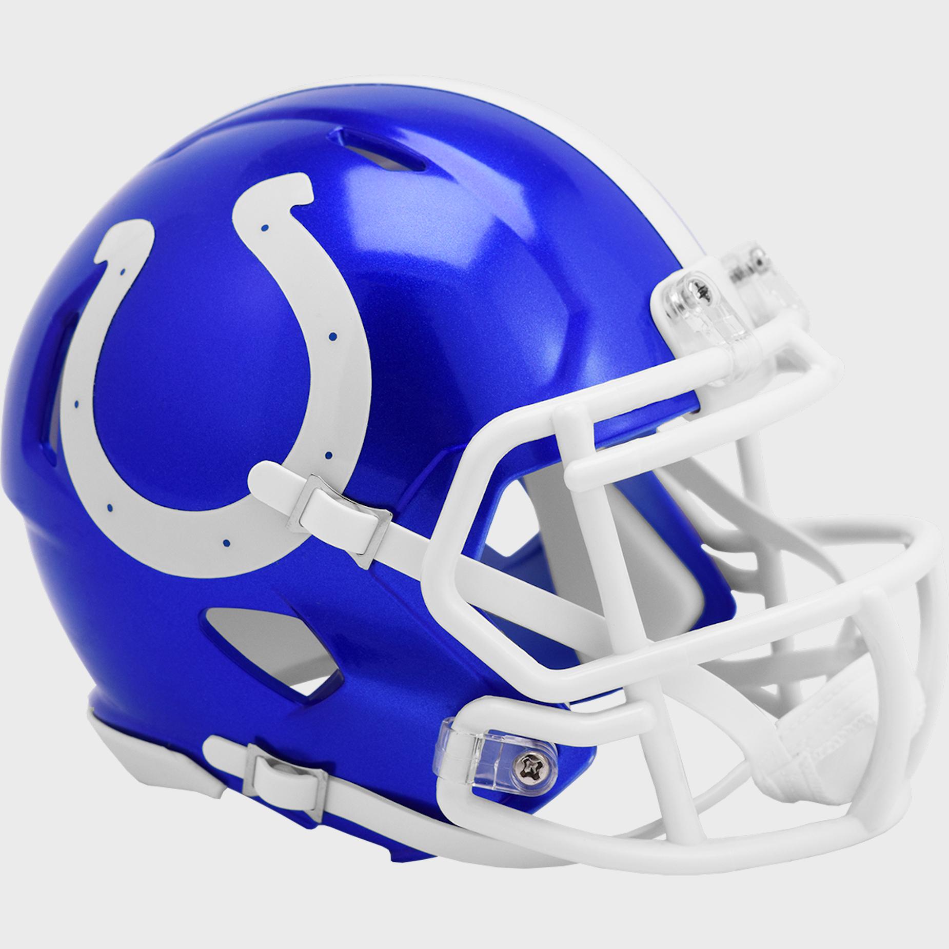 Indianapolis Colts Speed Mini Football Helmet <B>FLASH ESD 8/21/21</B>