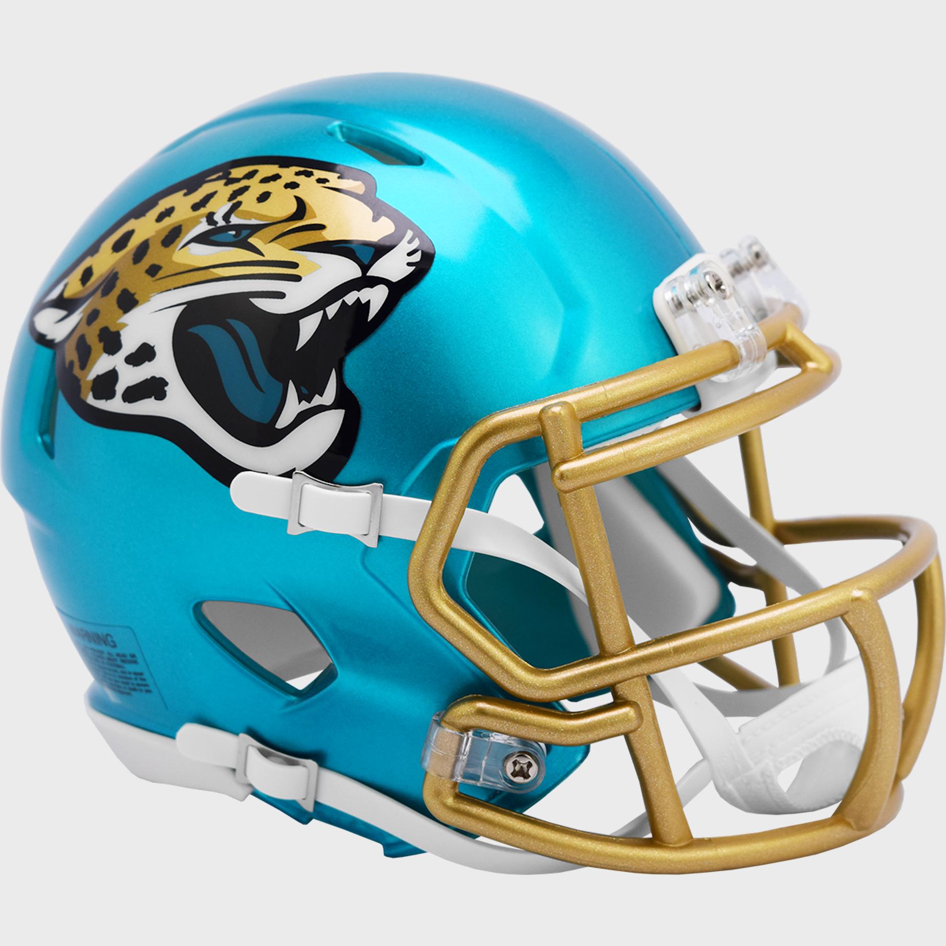 Jacksonville Jaguars Speed Mini Football Helmet <B>FLASH ESD 8/21/21</B>