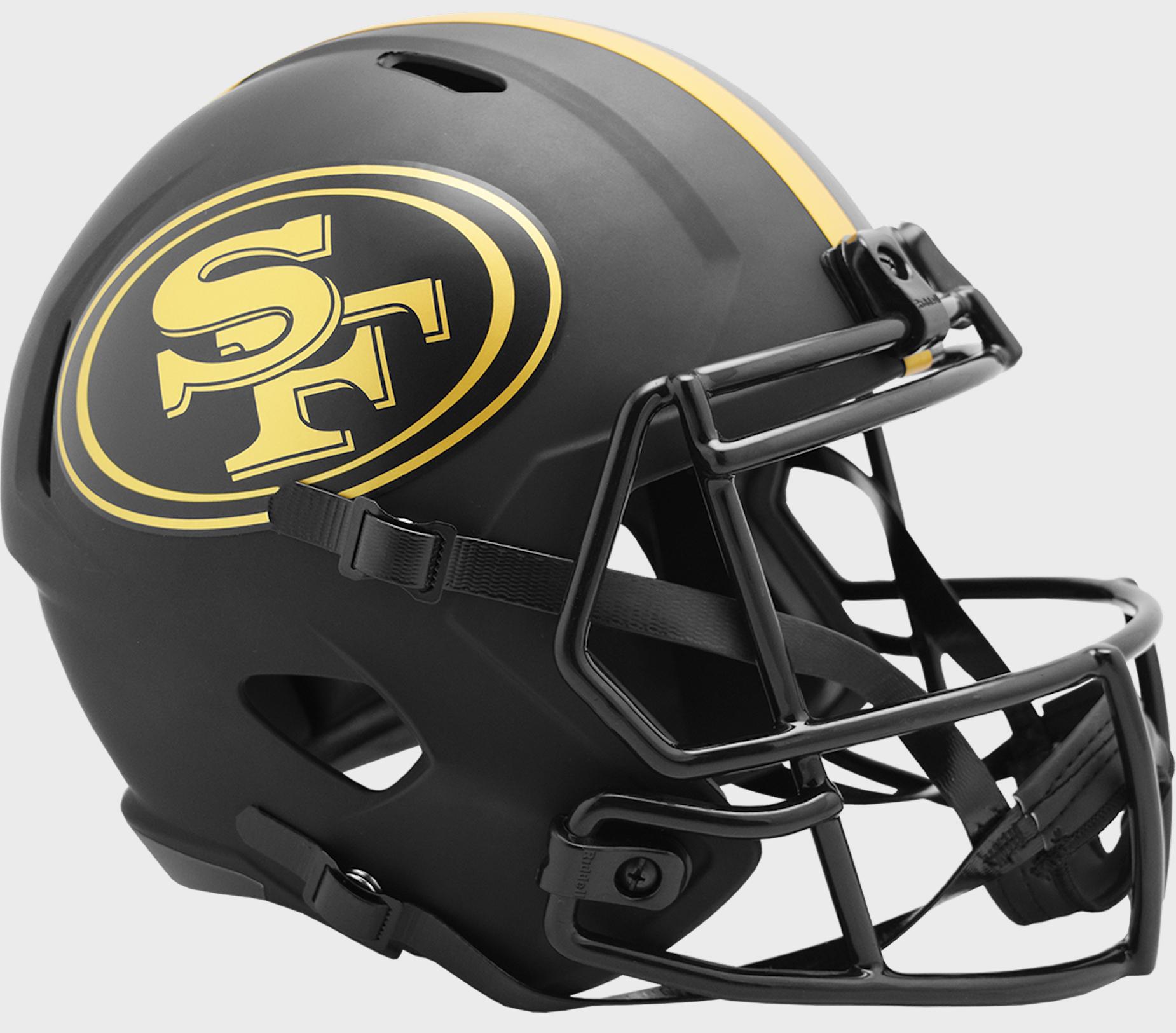 San Francisco 49ers Speed Replica Football Helmet <B>ECLIPSE </B>