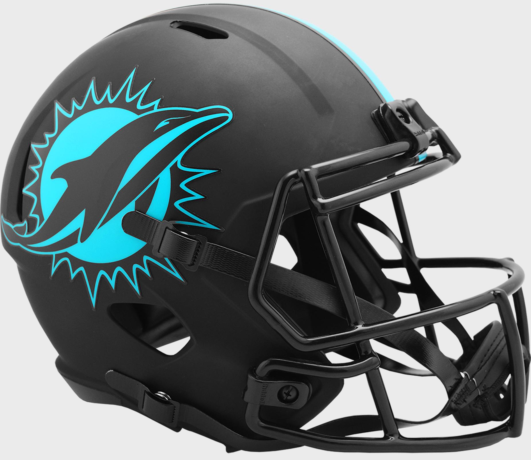 Miami Dolphins Speed Replica Football Helmet <B>ECLIPSE </B>
