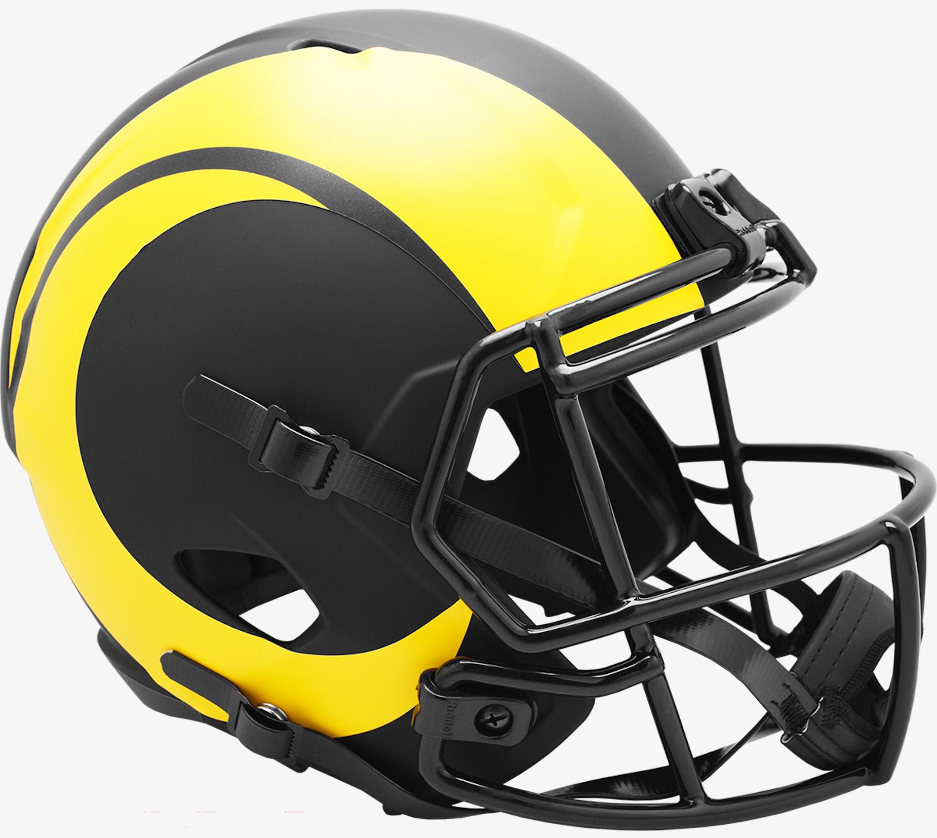 Los Angeles Rams Speed Replica Football Helmet <B>ECLIPSE </B>