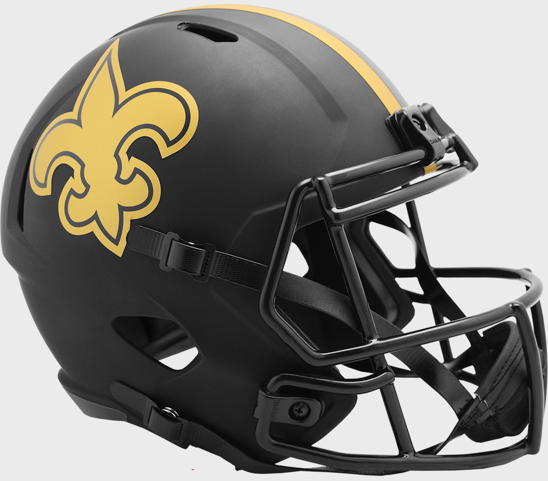 New Orleans Saints Speed Replica Football Helmet <B>ECLIPSE </B>