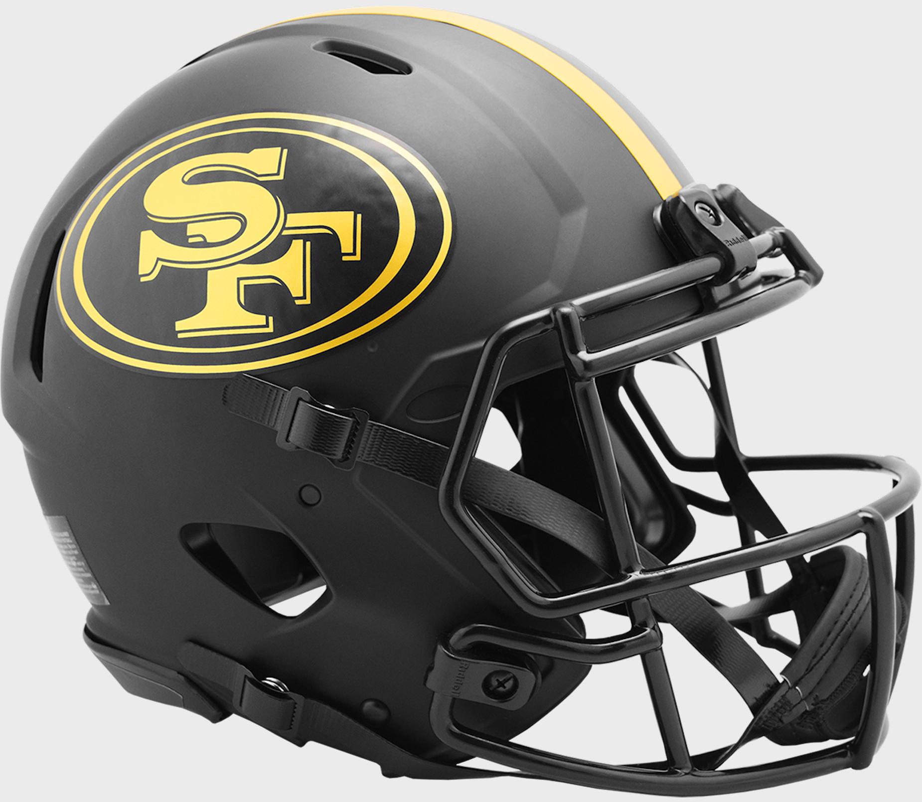 San Francisco 49ers Speed Football Helmet <B>ECLIPSE</B>