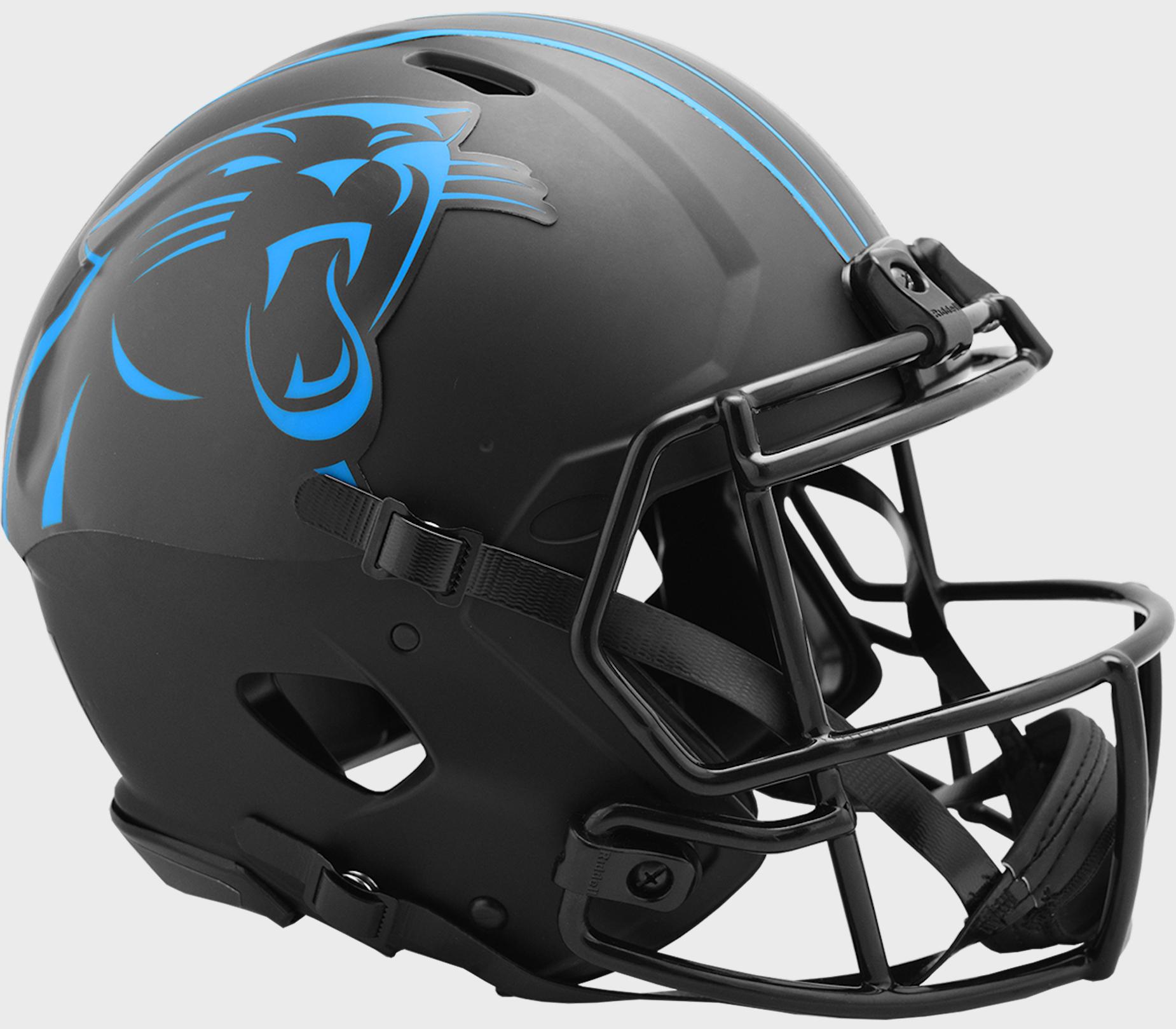 Carolina Panthers Speed Football Helmet <B>ECLIPSE</B>