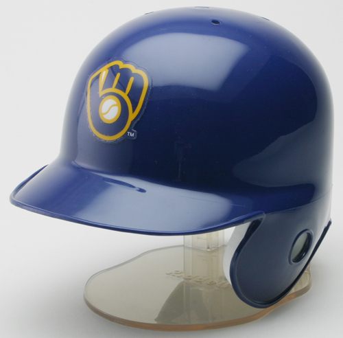 Milwaukee Brewers 1978 to 1993 Riddell Mini Replica Throwback Helmet