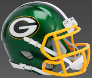 Green Bay Packers SpeedFlex Football Helmet <B>FLASH ESD 8/21/21</B>