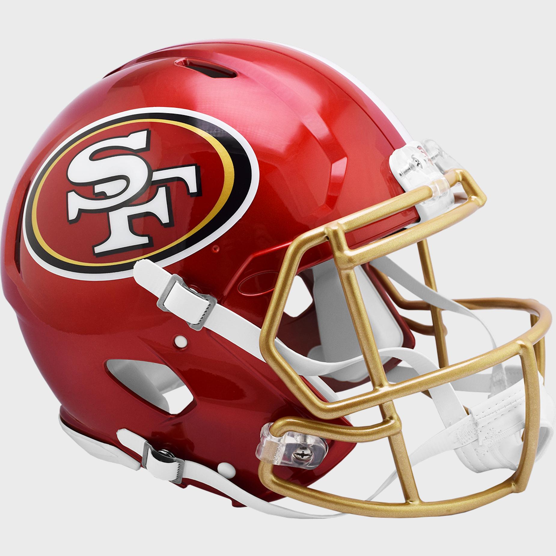 San Francisco 49ers Speed Football Helmet <B>FLASH ESD 8/21/21</B>