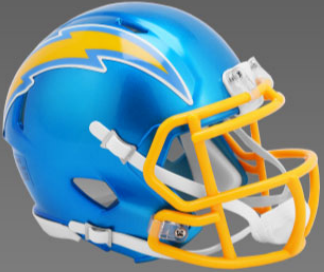 Los Angeles Chargers Speed Football Helmet <B>FLASH ESD 8/21/21</B>
