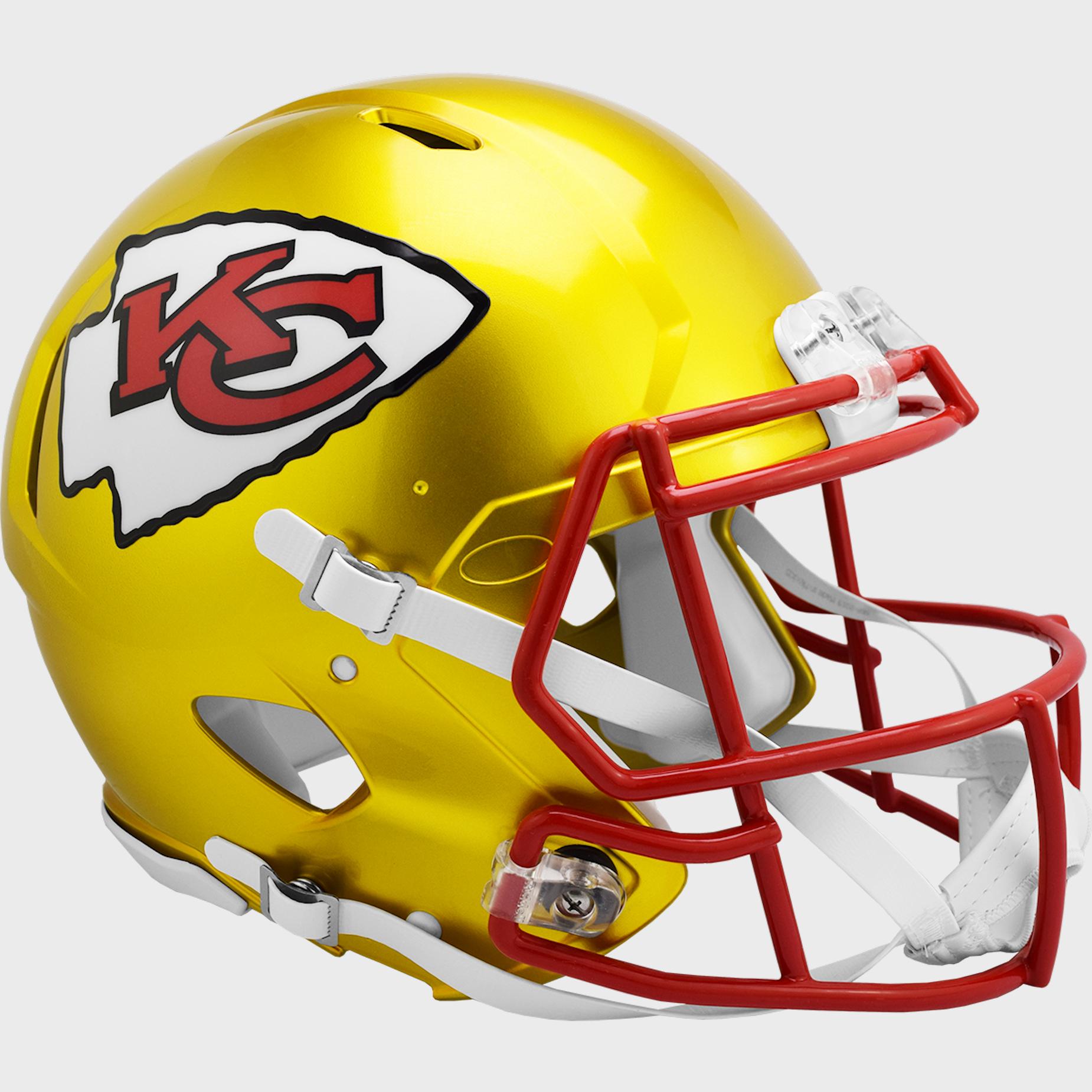 Kansas City Chiefs Speed Football Helmet <B>FLASH ESD 8/21/21</B>