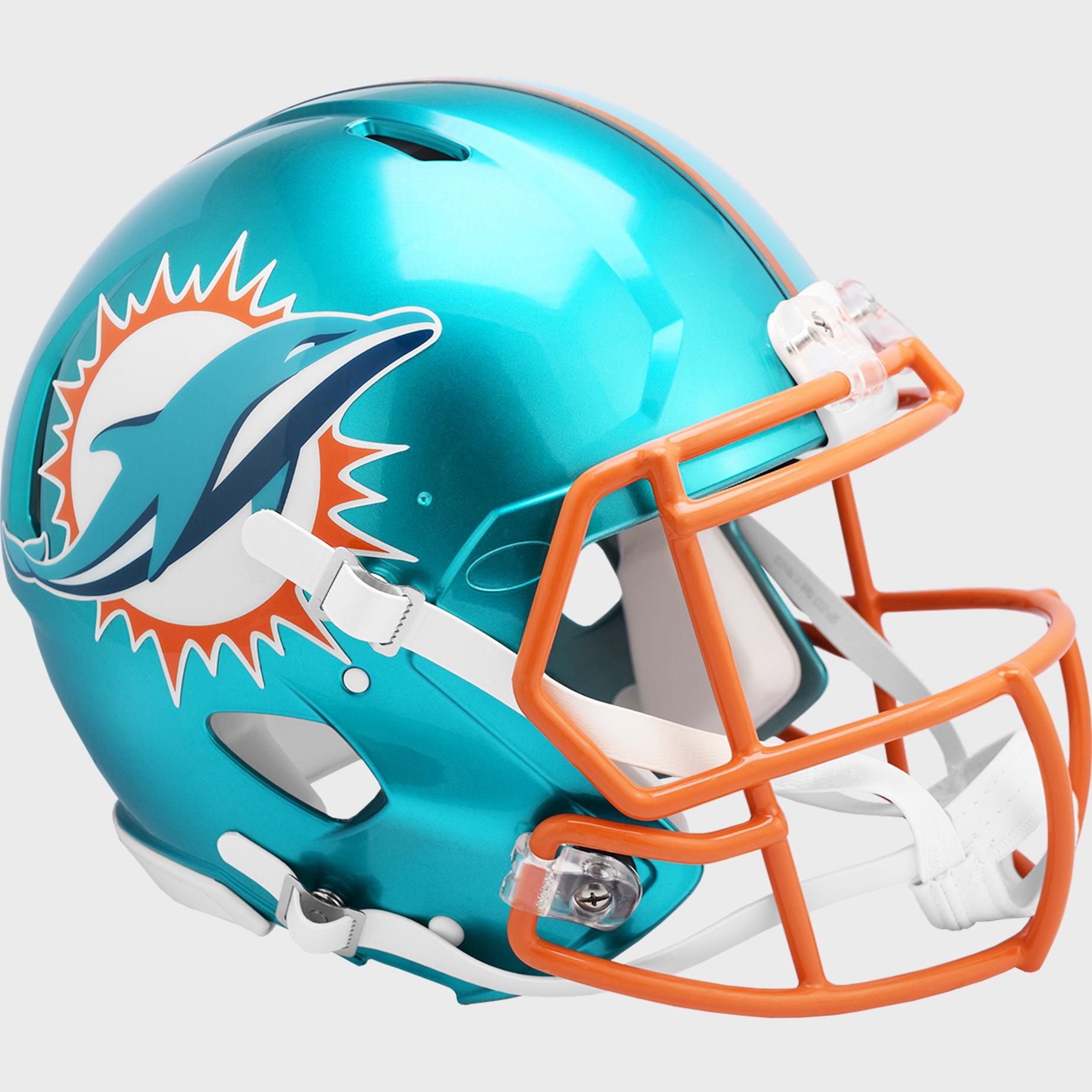 Miami Dolphins Speed Football Helmet <B>FLASH ESD 8/21/21</B>